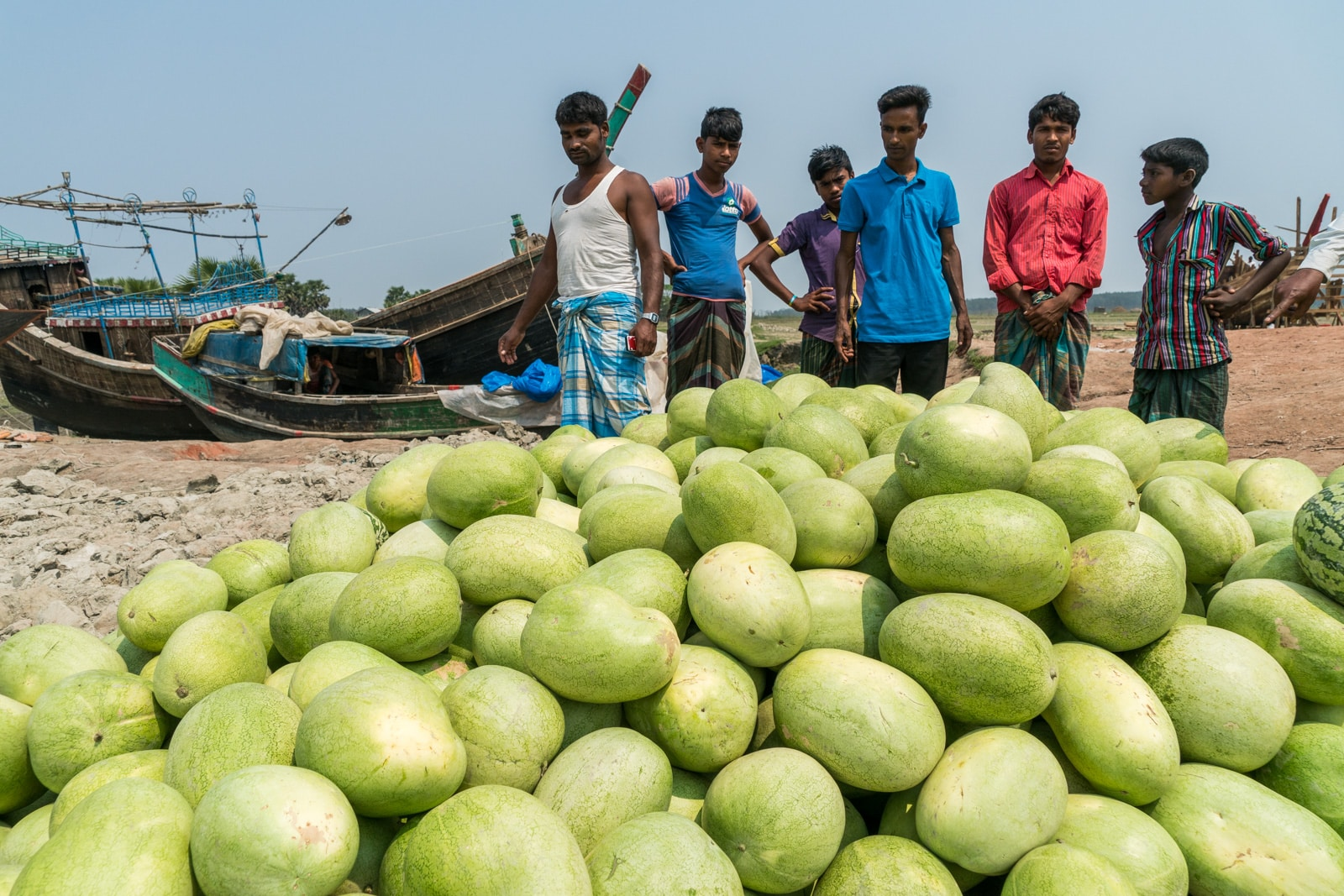 Backpacking in Bangladesh travel guide - Watermelon pile on Hatiya - Lost With Purpose travel blog