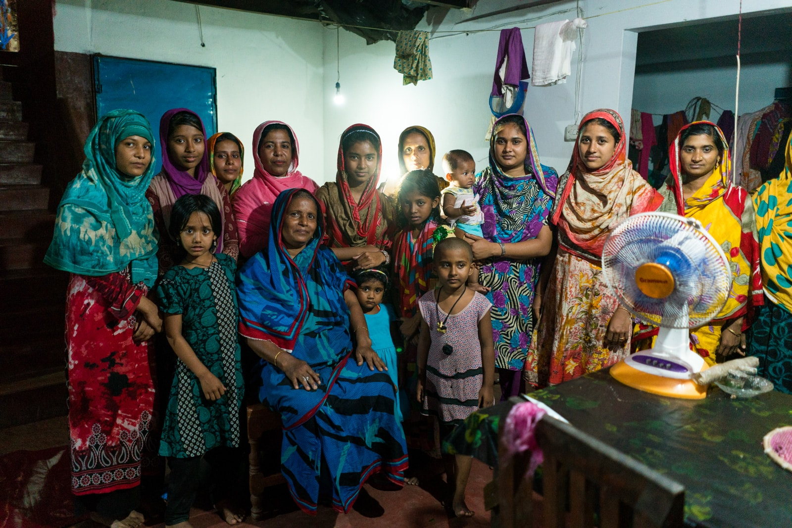 Guide to female travel in Bangladesh - Group of women in the back room of a home - Lost With Purpose travel blog