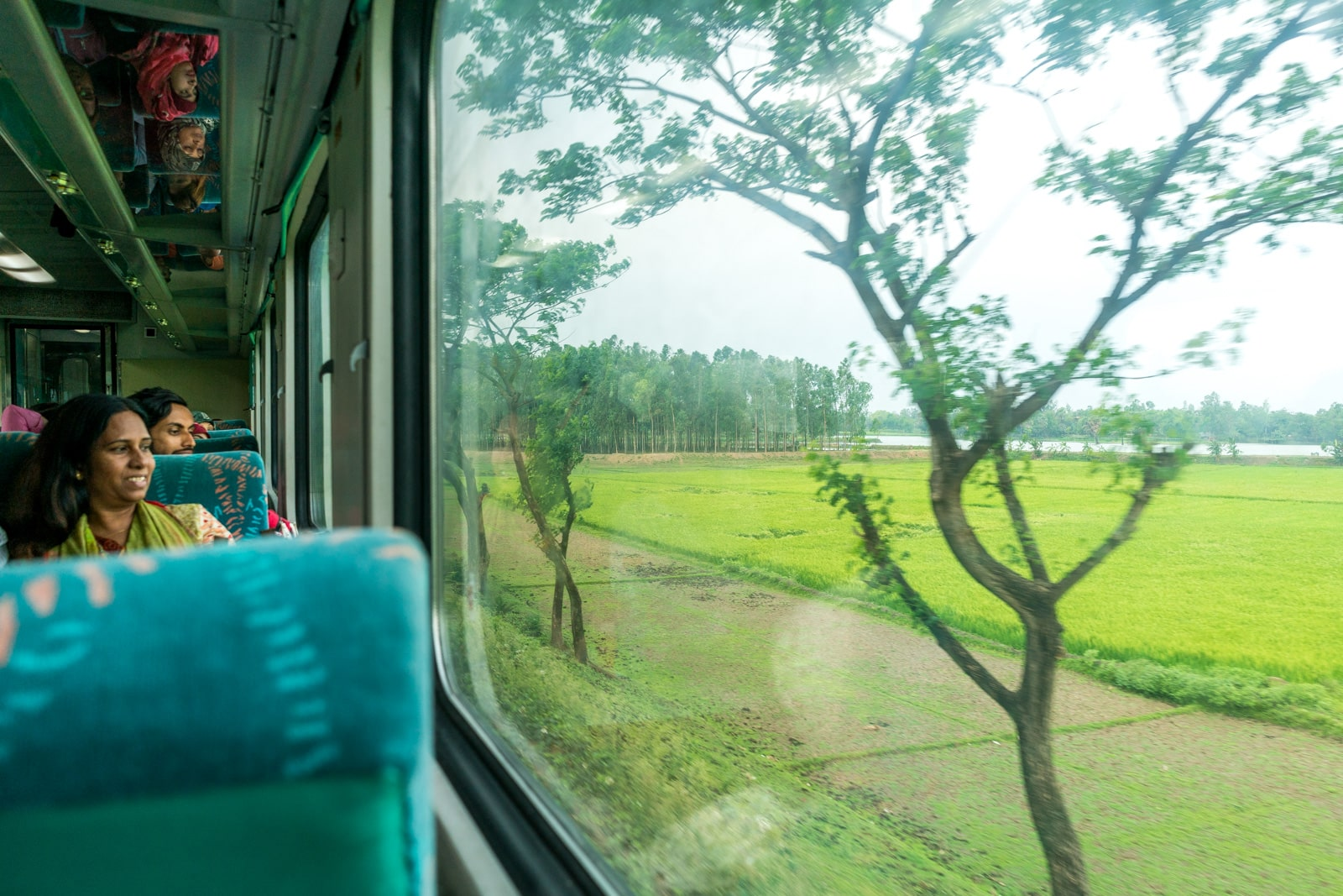 How to take the train from Bangladesh to India - Greenery along the way - Lost With Purpose travel blog
