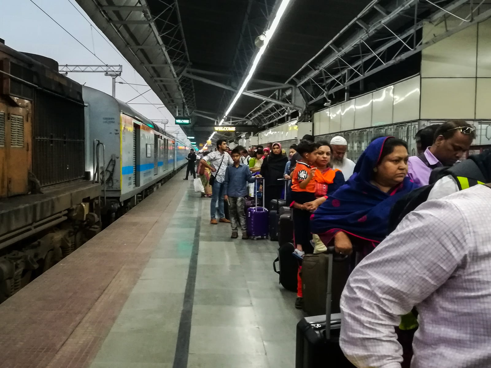 How to take the train from Dhaka to Kolkata - Immigration line at Kolkata Chitpur railway station - Lost With Purpose travel blog
