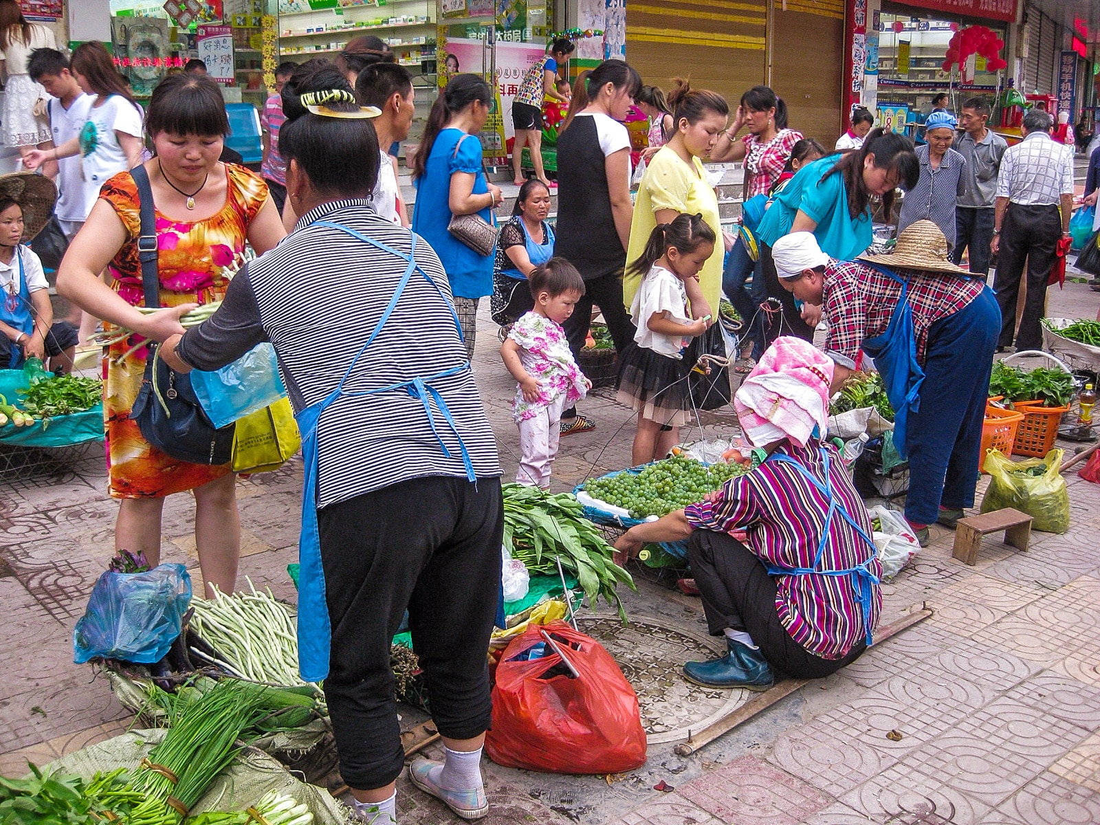 Exploring off the beaten track villages in Guizhou, China - Sunday market in Kaili