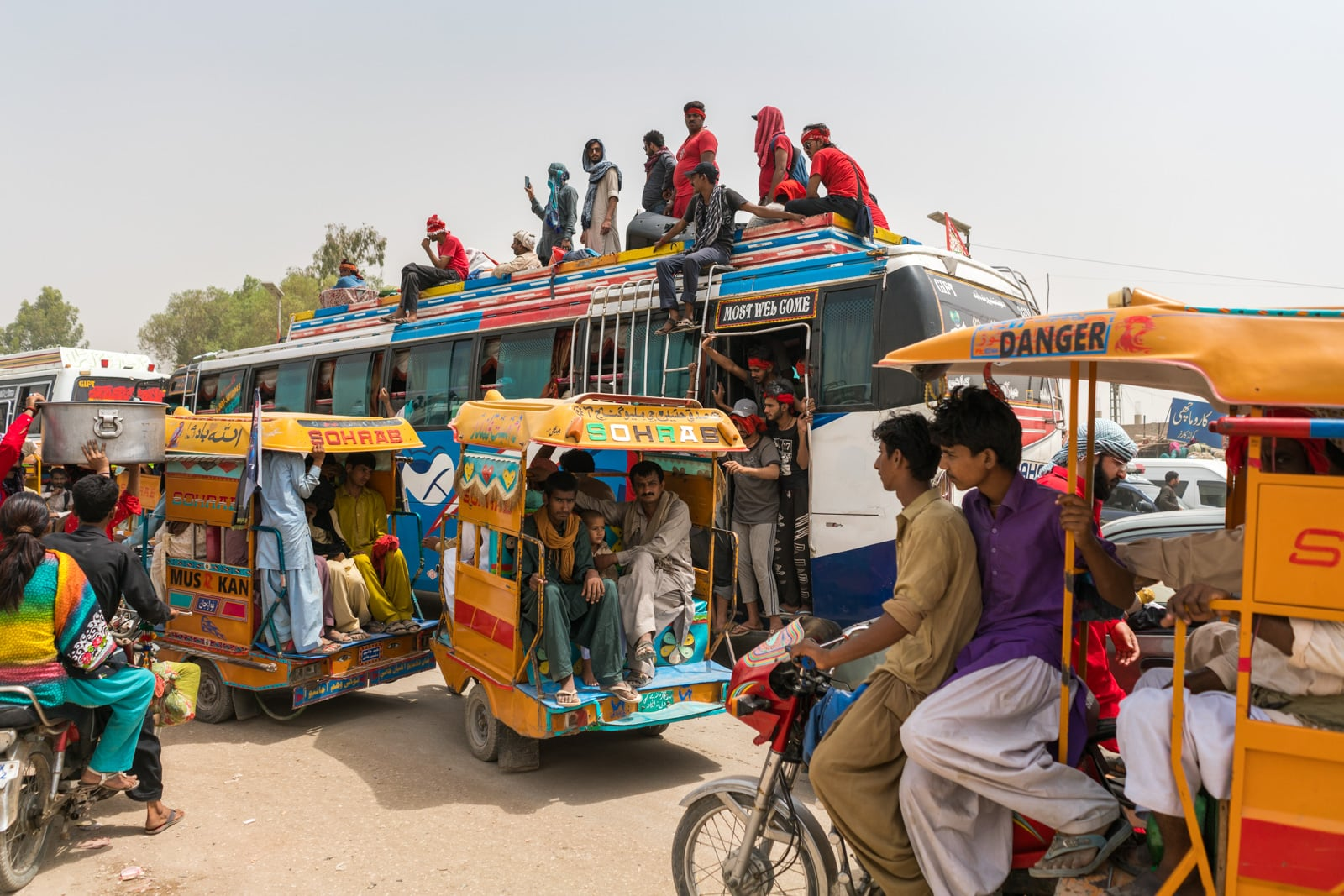 The Urs of Lal Shahbaz Qalandar in Sehwan, Pakistan - Traffic inside Sehwan Sharif - Lost With Purpose travel blog