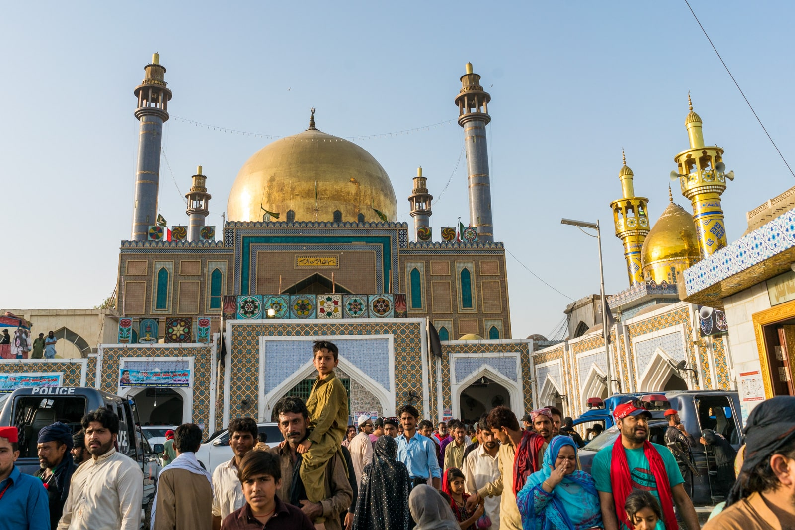 The Urs of Lal Shahbaz Qalandar in Sehwan, Pakistan - Exterior of shrine of Lal Shahbaz - Lost With Purpose travel blog