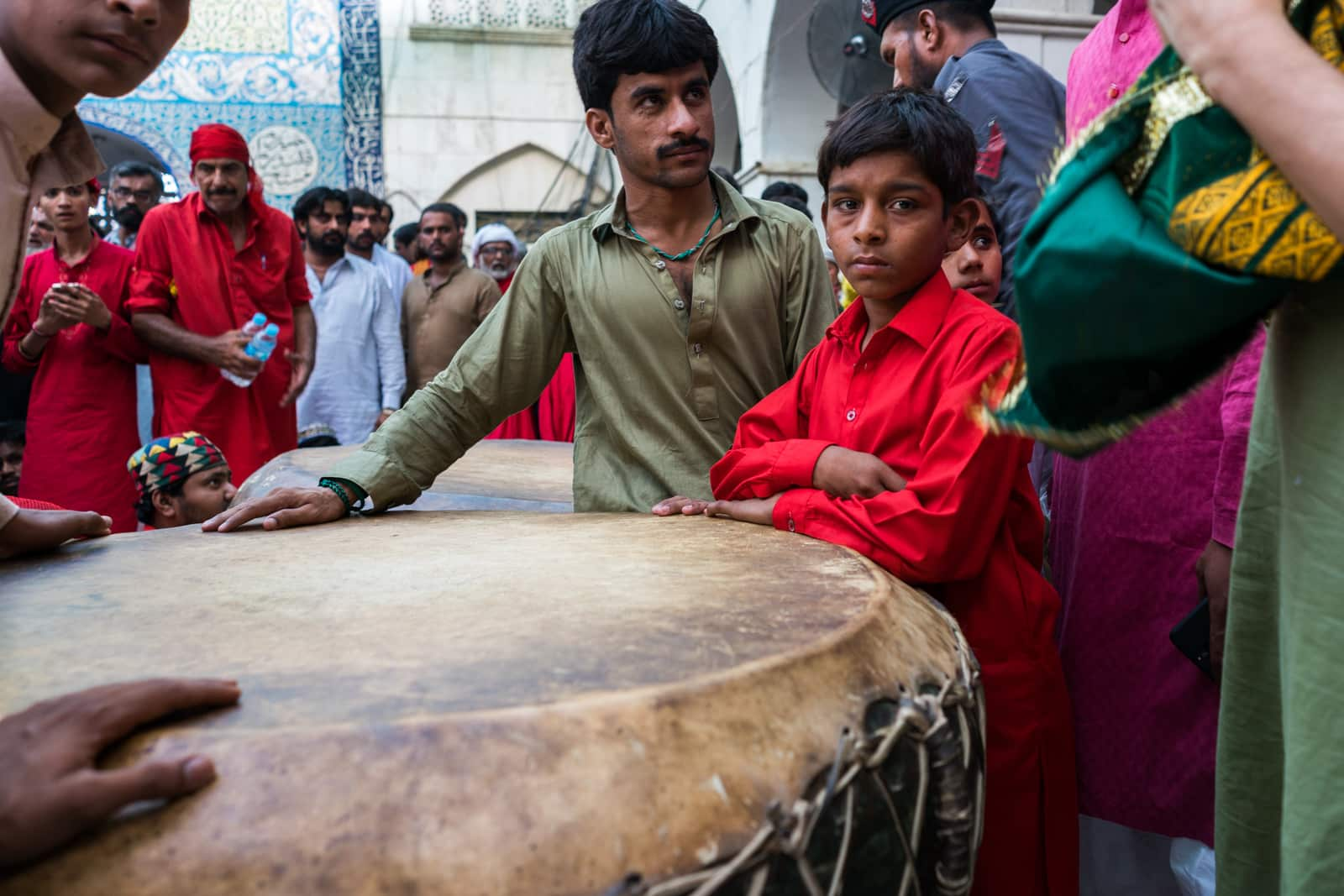 The Urs of Lal Shahbaz Qalandar in Sehwan, Pakistan - Dhamaal drum inside the shrine - Lost With Purpose travel blog