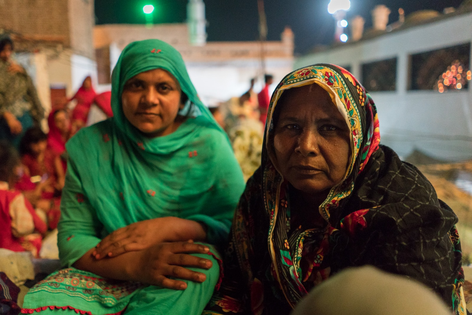 The Urs of Lal Shahbaz Qalandar in Sehwan, Pakistan - Ladies on the rooftop - Lost With Purpose travel blog