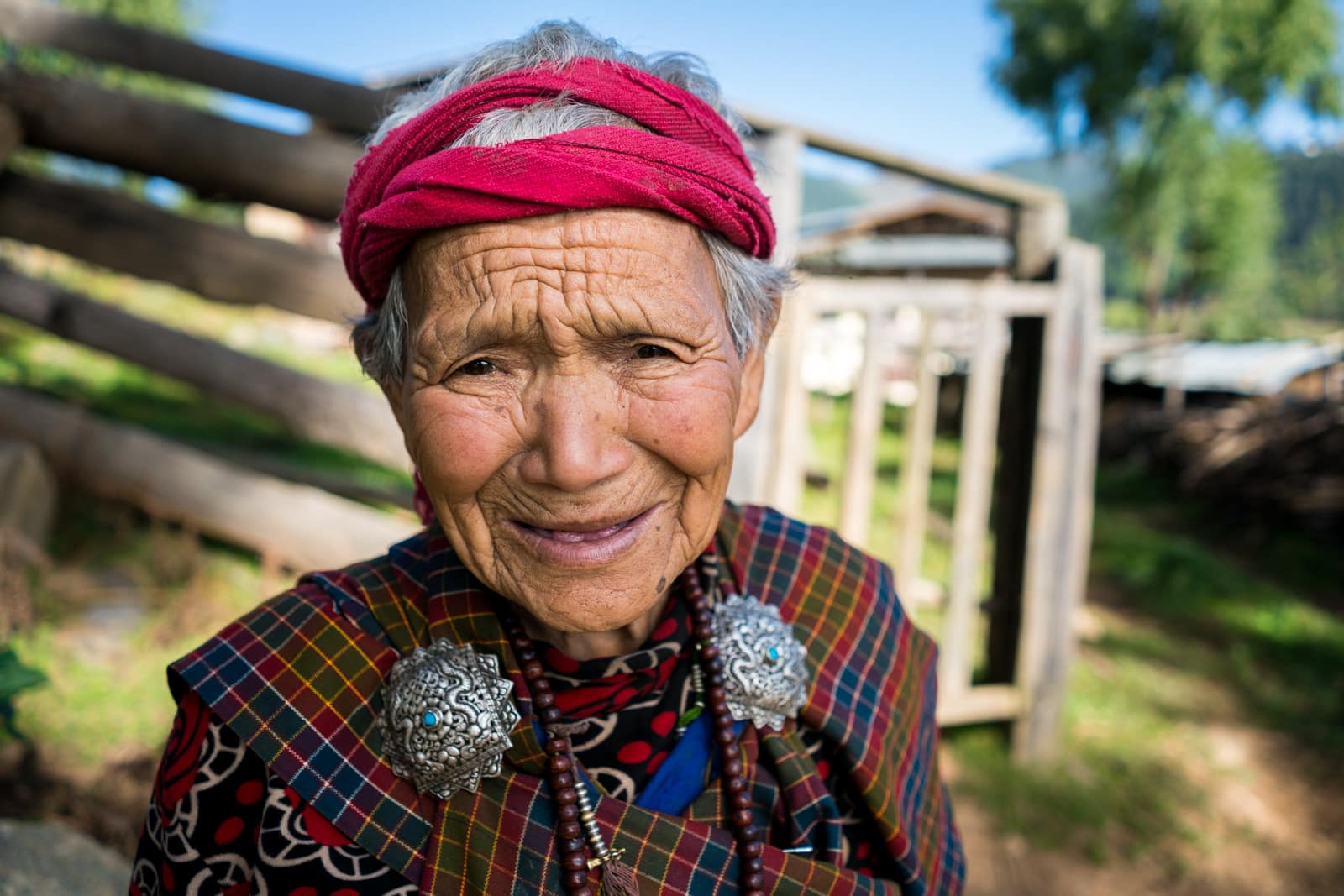 Photos of Bhutan - Grandmother in Phobjikha Valley, Bhutan - Lost With Purpose travel blog