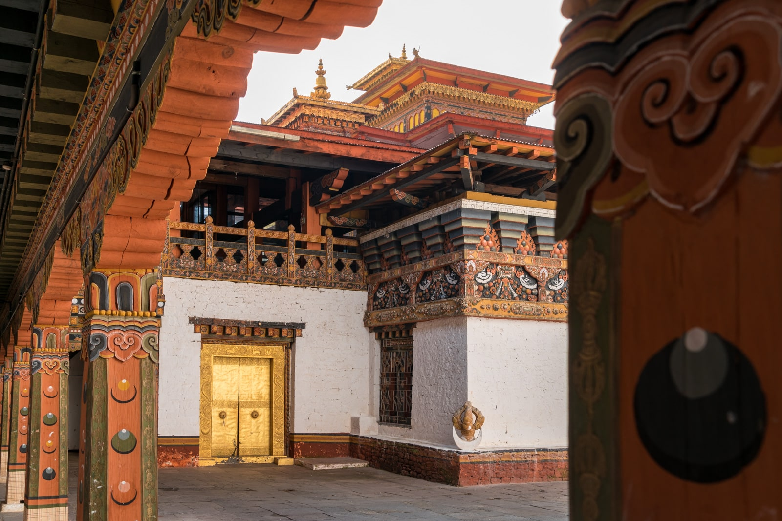 Photos of Bhutan - Interior of Punakha dzong - Lost With Purpose travel blog