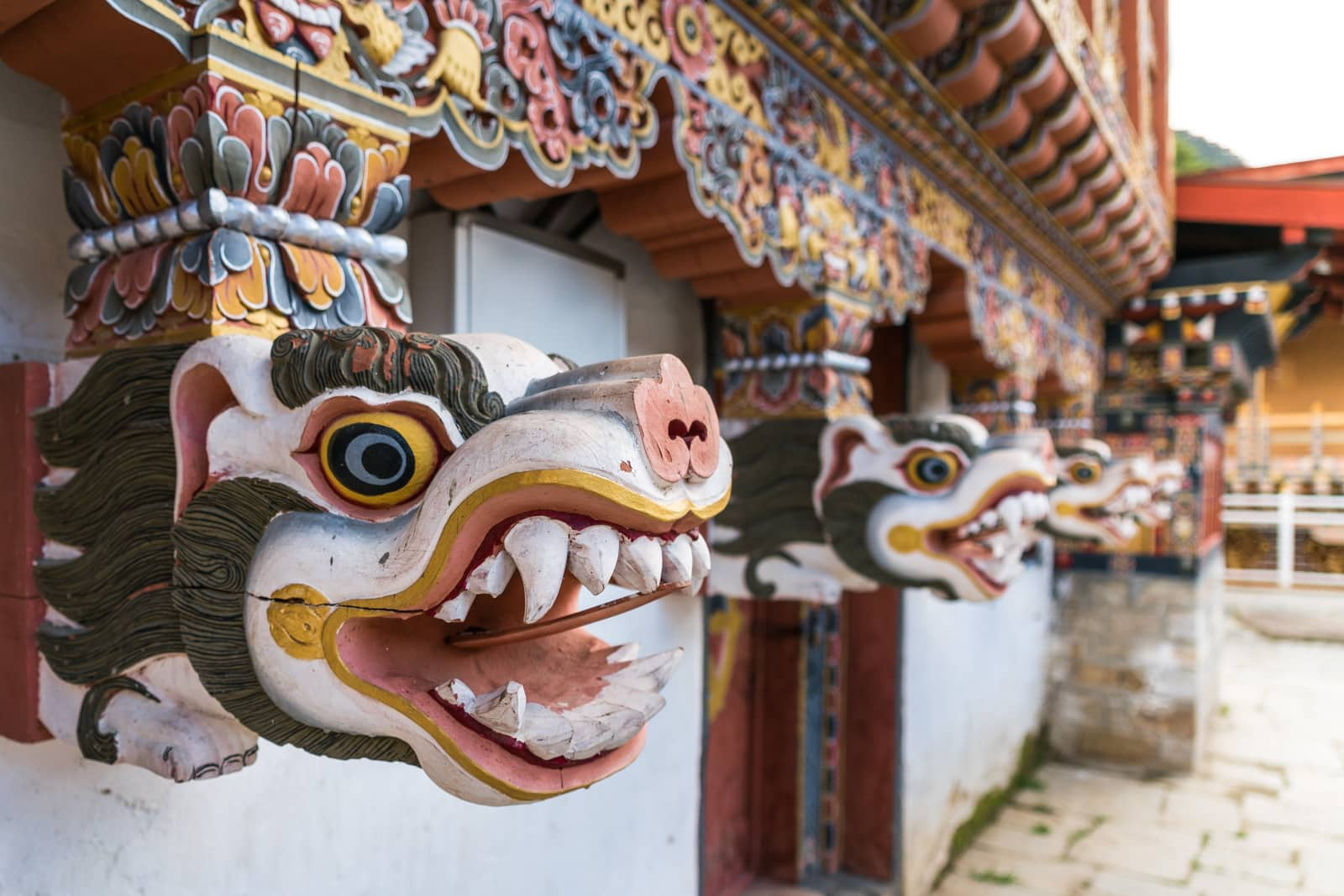 Photos of Bhutan - Decorations on the White Temple in Haa - Lost With Purpose travel blog