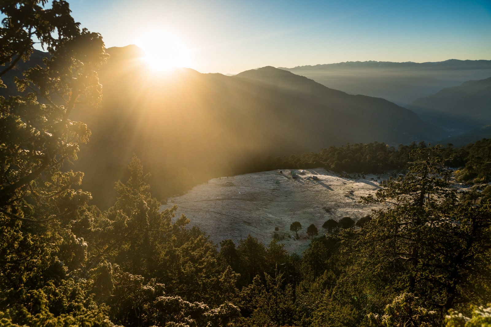 Photos of Bhutan - Sunrise over the Druk Path - lost With Purpose travel blog