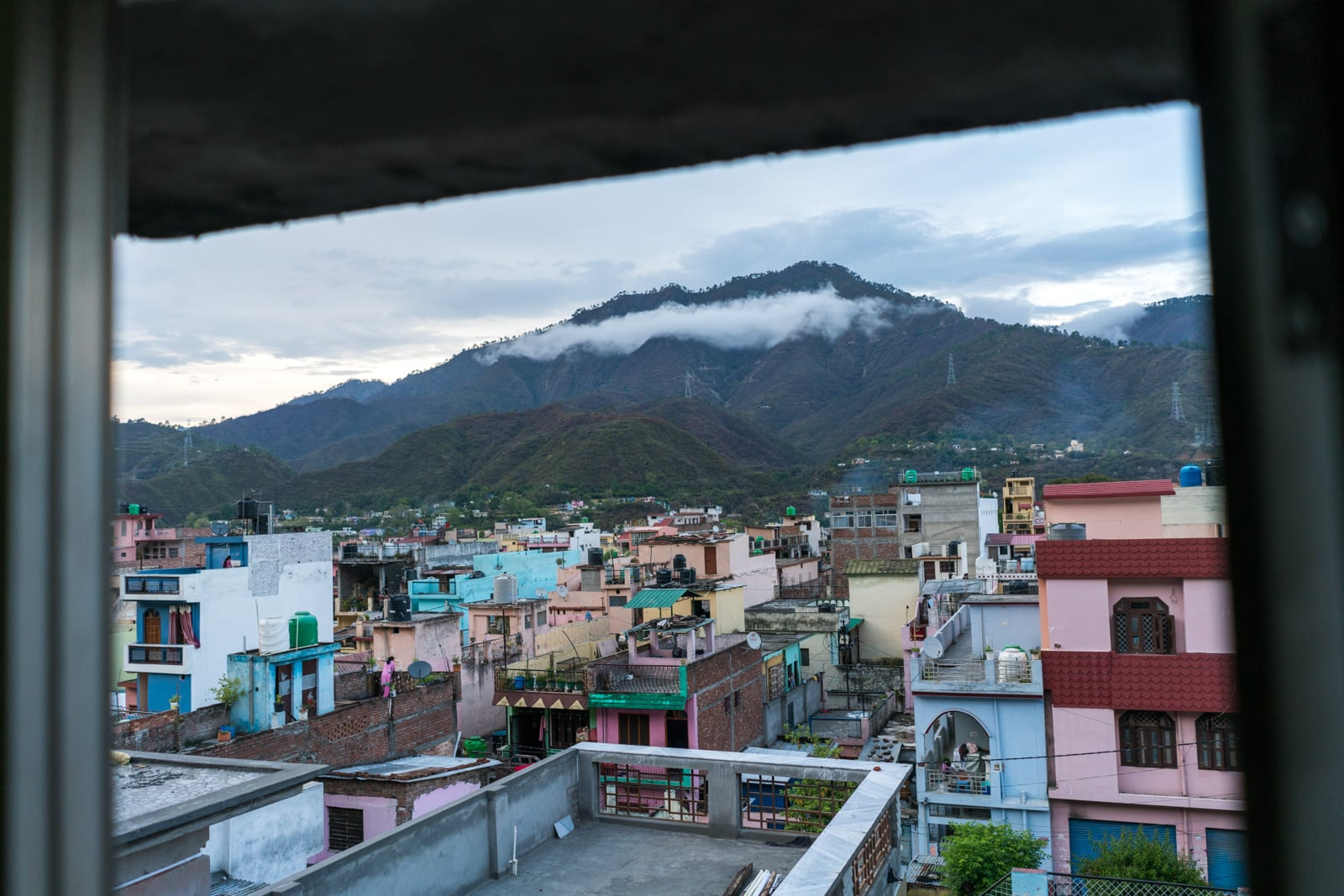 How to reach Srinagar from RIshikesh - View of Srinagar, Uttarakhand from a hotel room - Lost With Purpose travel blog