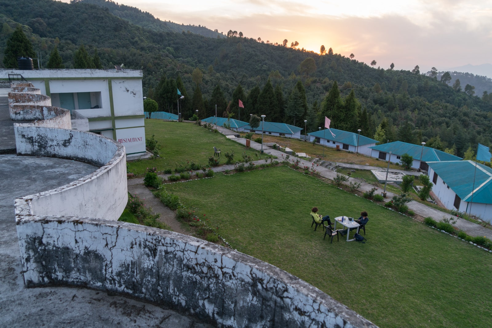 How to reach Khirsu from Rishikesh - Rooftop view of the GVMN Guest House - Lost With Purpose travel blog
