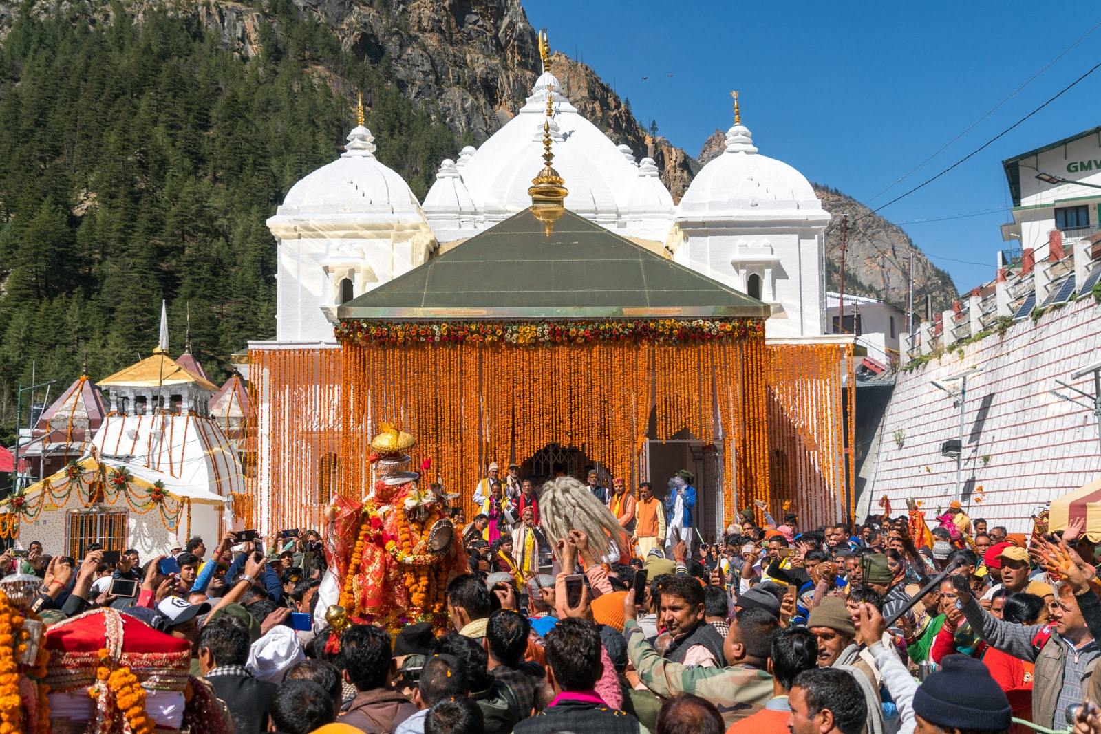 Guide to trekking to the start of the Ganges River in Uttarakhand, India - Gangotri temple on its opening day - Lost With Purpose travel blog
