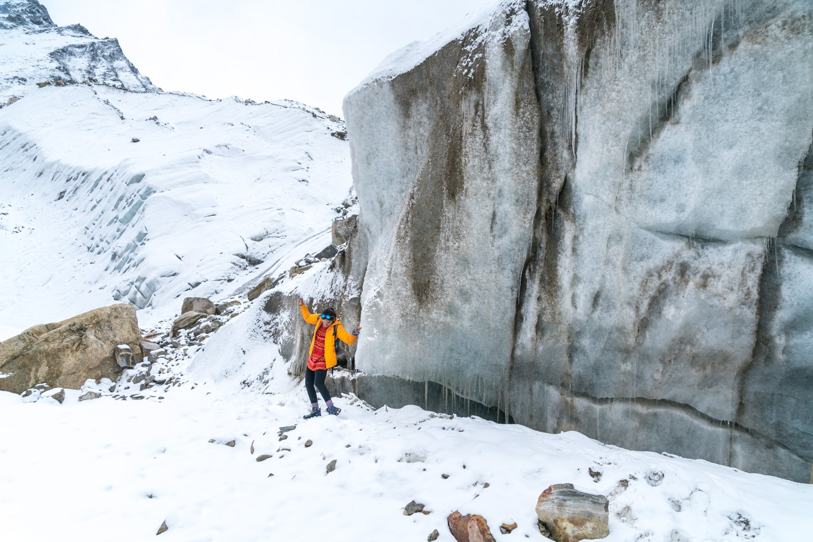 Trekking to the start of the Ganges River in Uttarakhand, India - Doing a happy dance at the glacier - Lost With Purpose travel blog