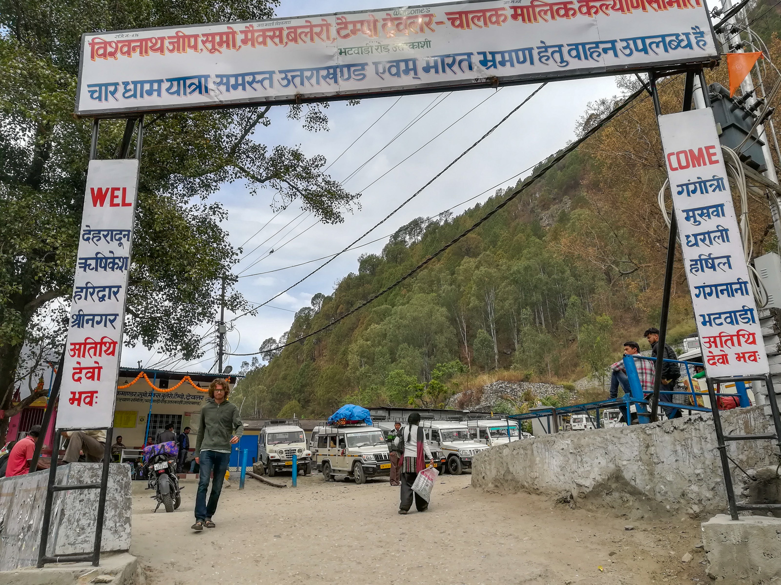Guide to trekking to the start of the Ganges River in Uttarakhand, India - Shared Jeep stand in Uttarkashi - Lost With Purpose travel blog