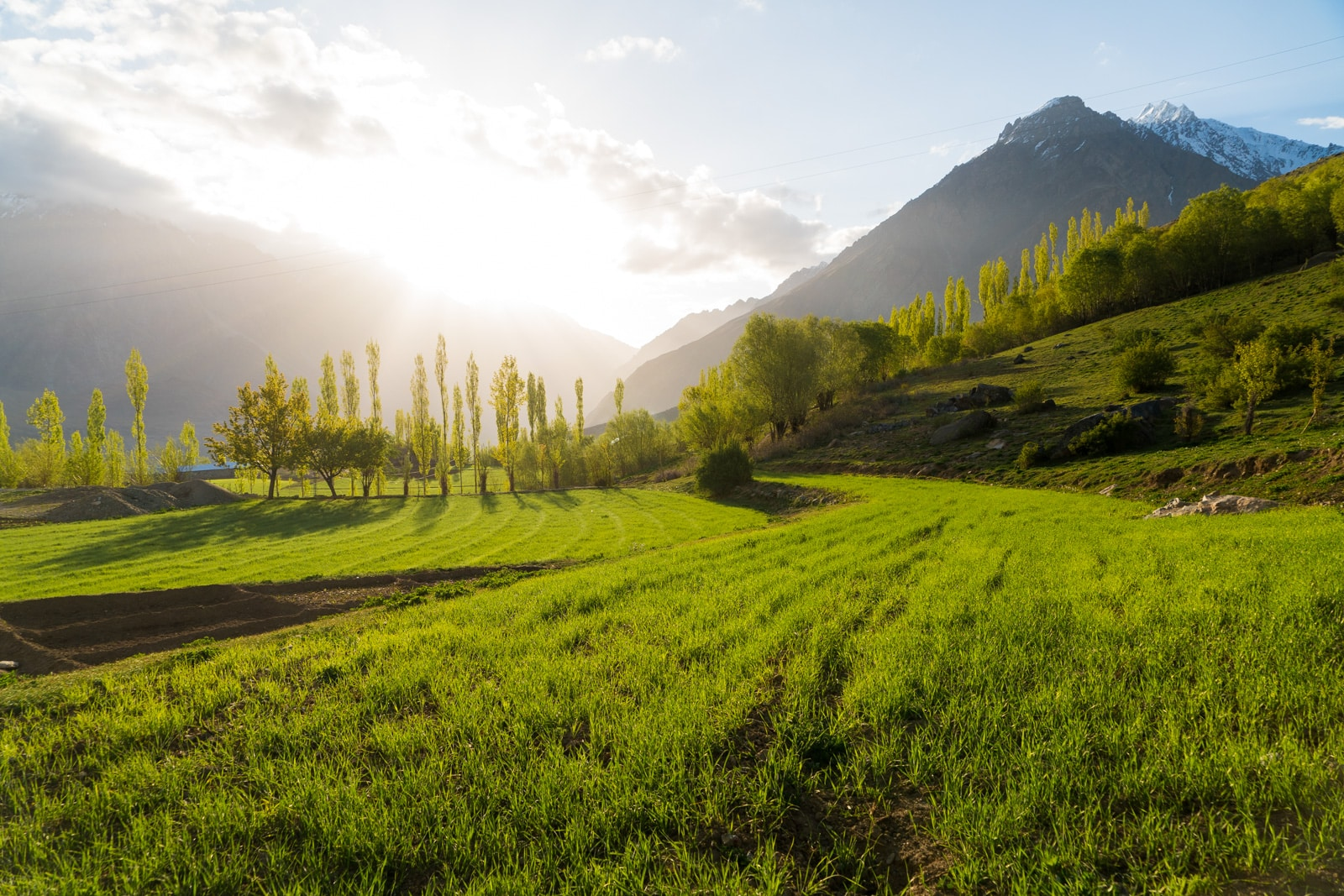 Phander Valley travel guide - Sunrise over wheat fields in Phander, Pakistan - Lost With Purpose travel blog