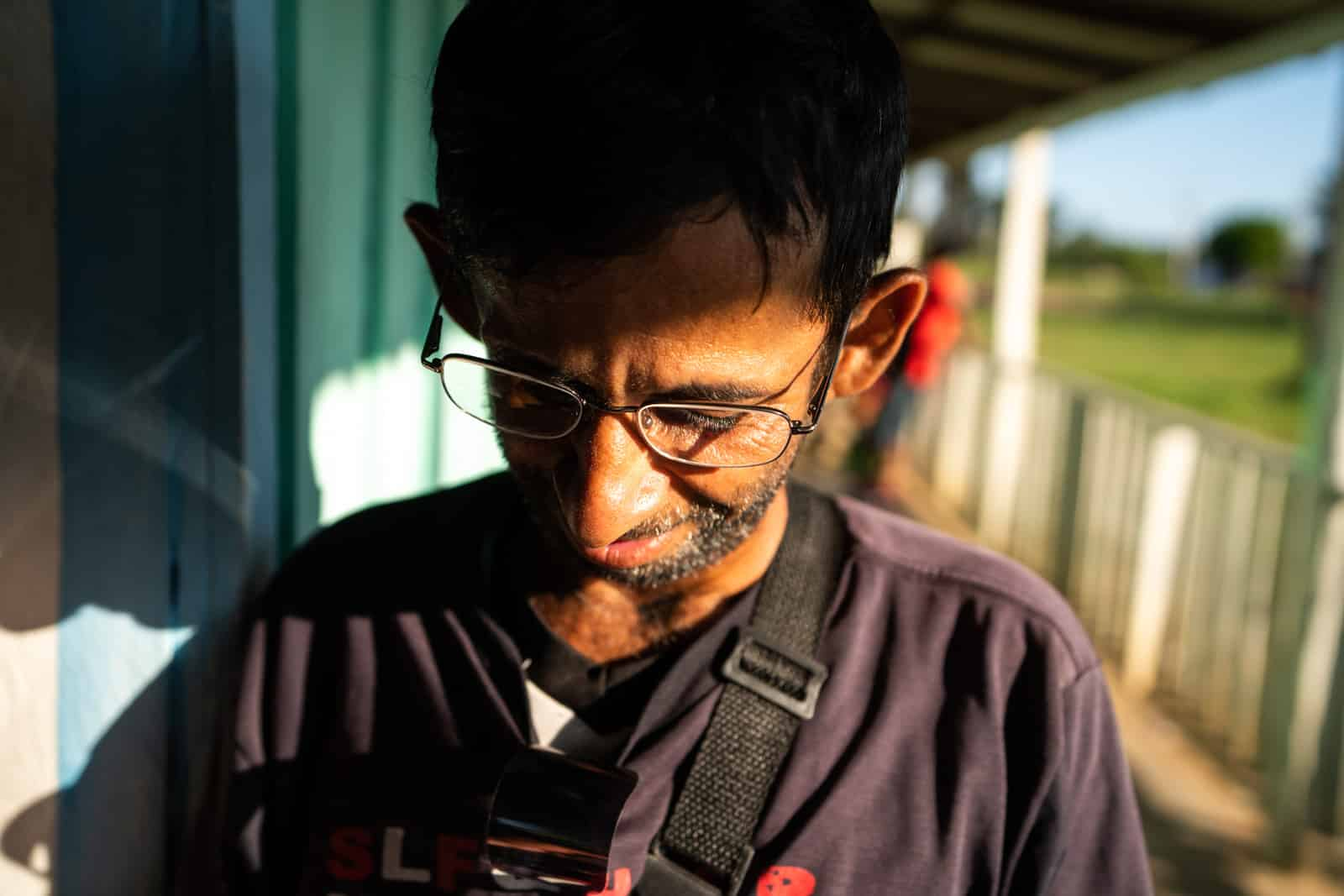 OneSight's mobile eye care clinic in the Brazilian Amazon - Alex receives his glasses - Lost With Purpose travel blog
