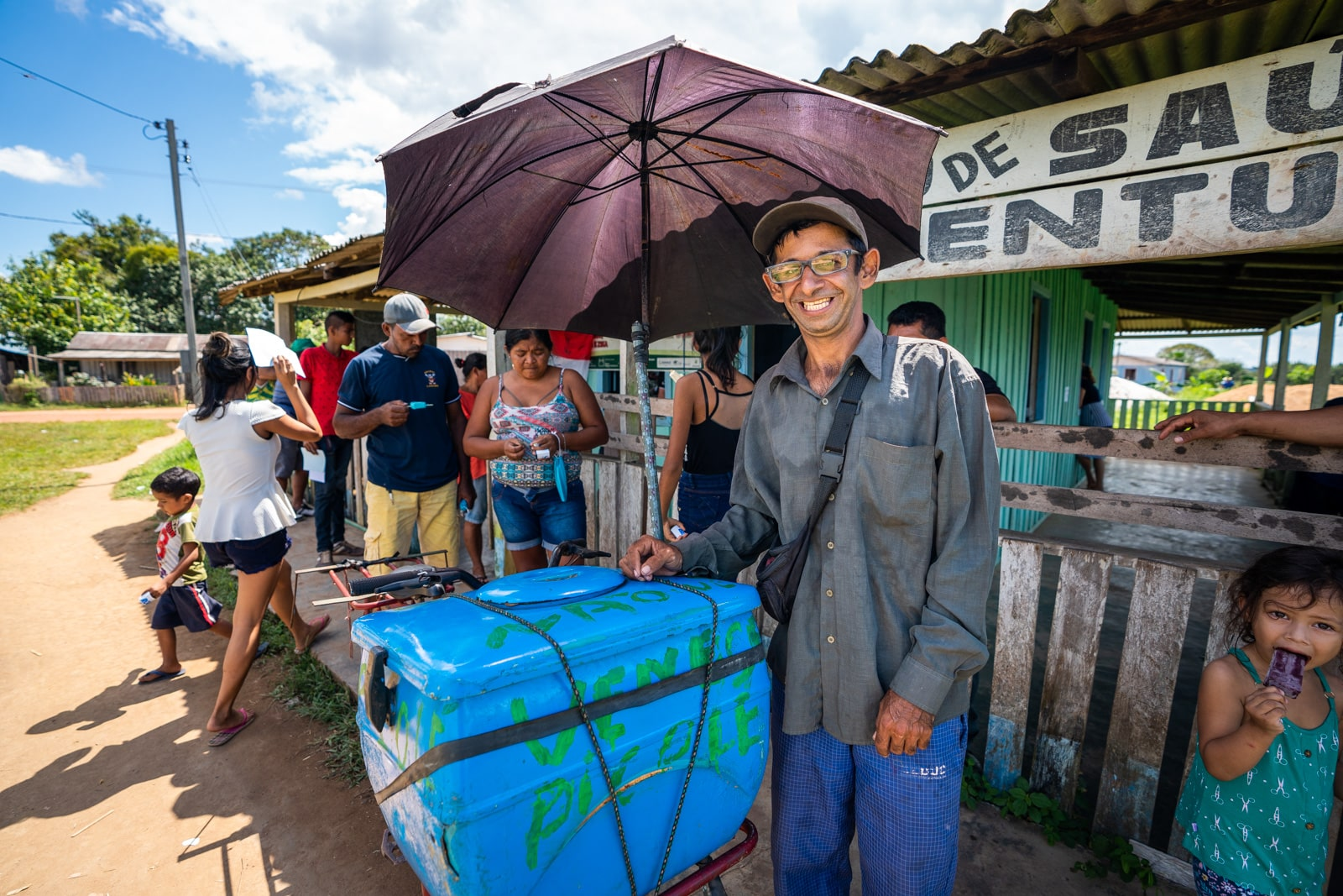 OneSight's mobile eye care clinic in the Brazilian Amazon - Alex the ice cream man - Lost With Purpose travel blog