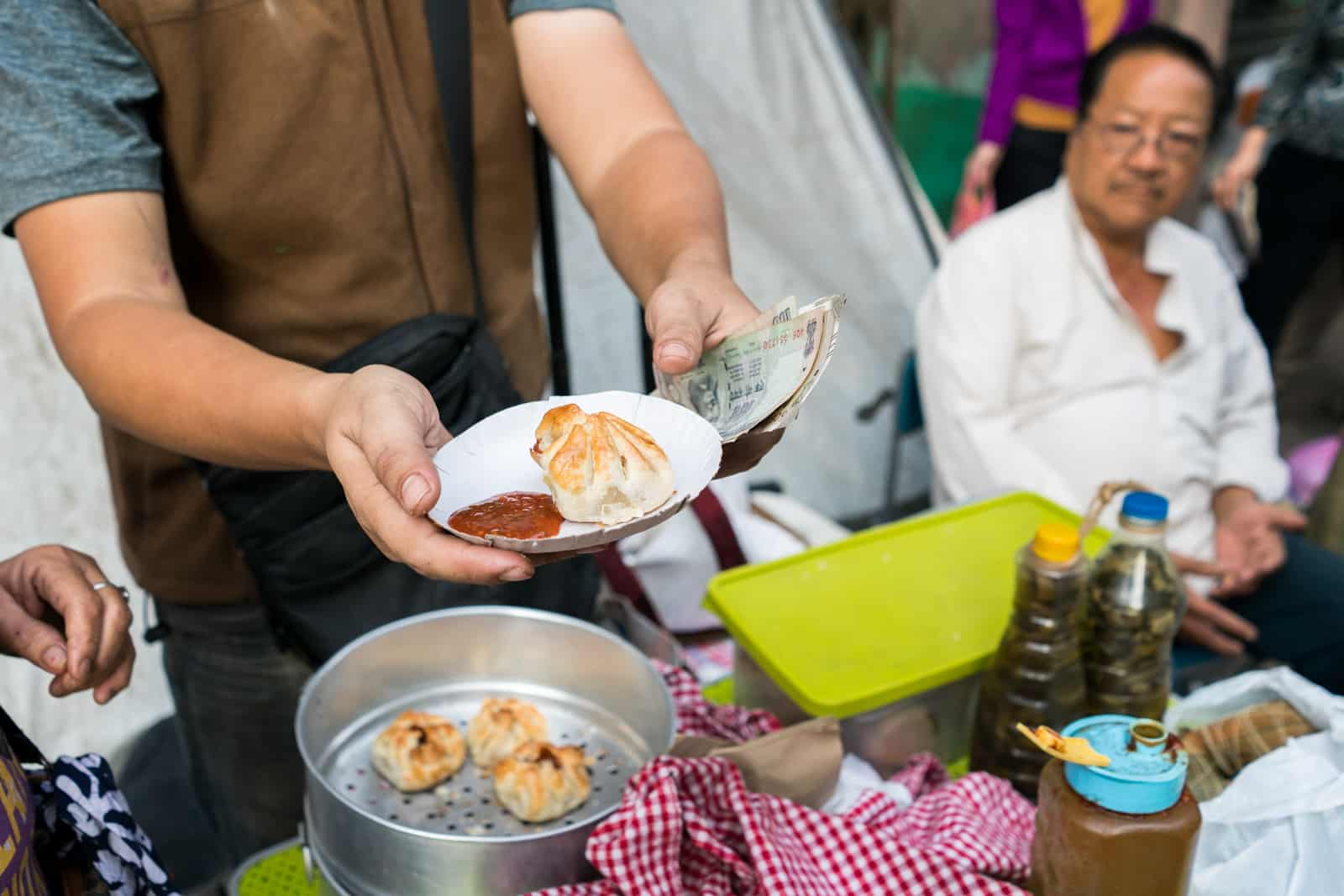 Reasons Kolkata is my favorite Indian megacity - Dumplings for sale in the Chinese morning market at Tiretti bazaar - Lost With Purpose travel blog