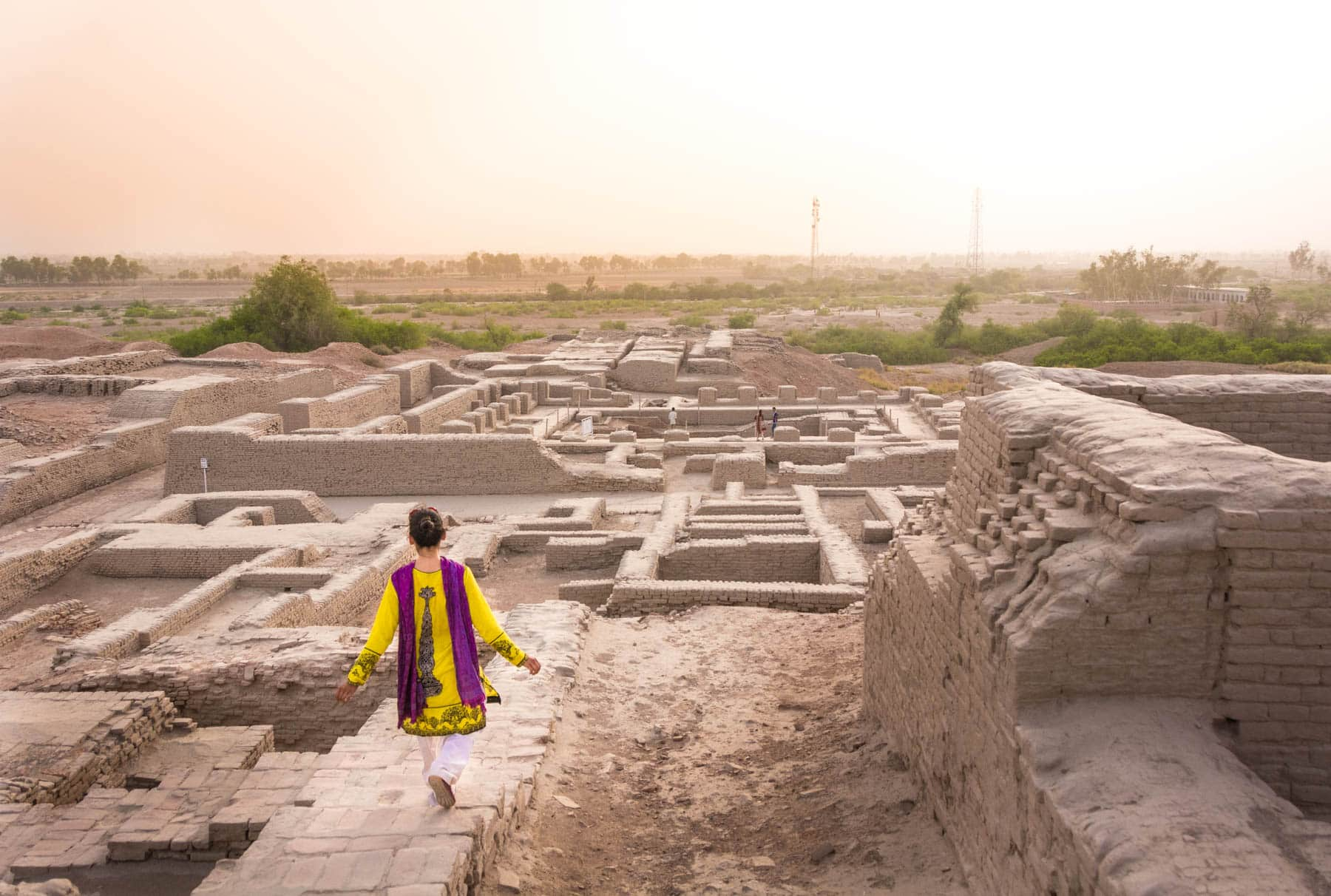 Pakistan bucket list - Alex in Moenjodaro, Sindh - Lost With Purpose travel blog