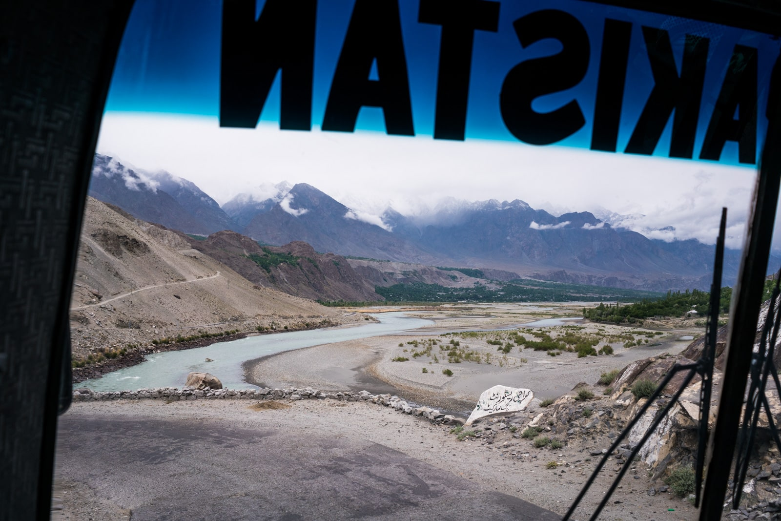 Phander Valley travel guide - Mountain views on the NATCO bus from Gilgit to Phander - Lost With Purpose travel blog