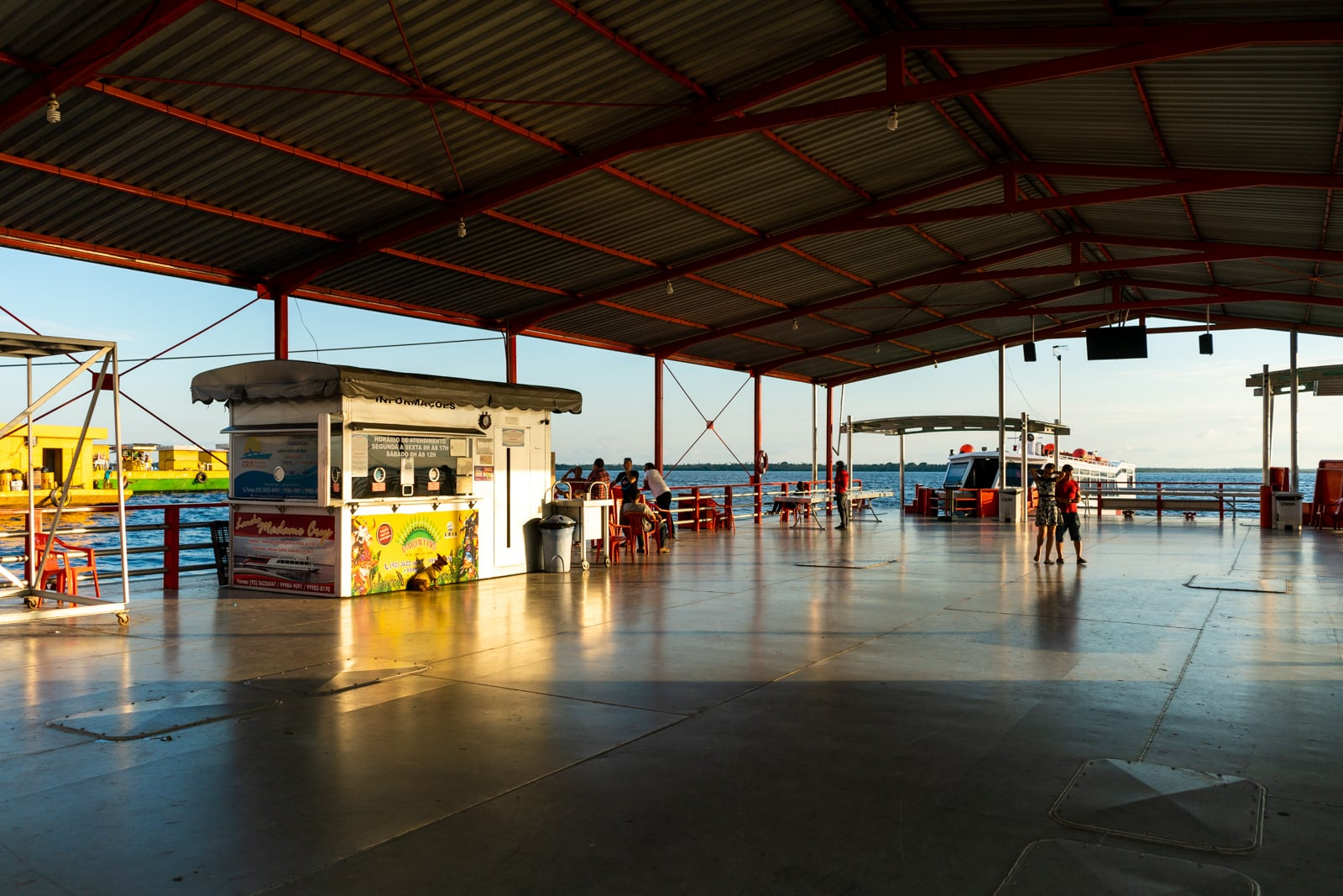 Taking the fast boat from Manaus, Brazil to Leticia, Colombia - Terminal Ajato ticketing booth - Lost With Purpose travel blog