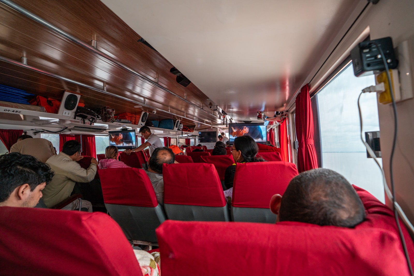 Taking the fast boat from Manaus, Brazil to Leticia, Colombia - View from the back of the fast boat - Lost With Purpose travel blog