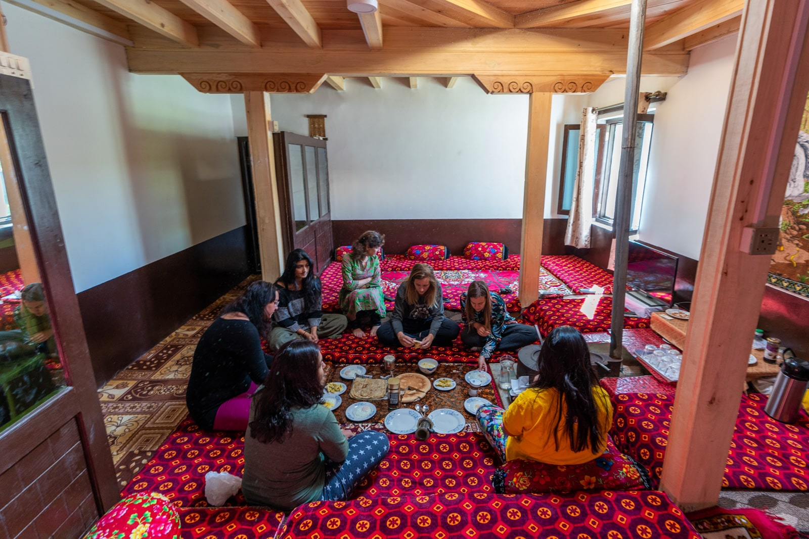Female travelers at a homestay in Gulmit, pakistan