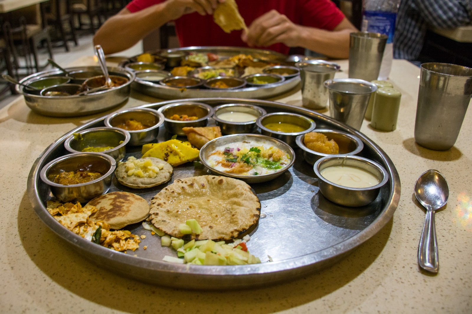 A weekend guide to Ahmedabad, Gujarat, India - Traditional Gujarati thali from Gopi Dining Hall - Lost With Purpose travel blog