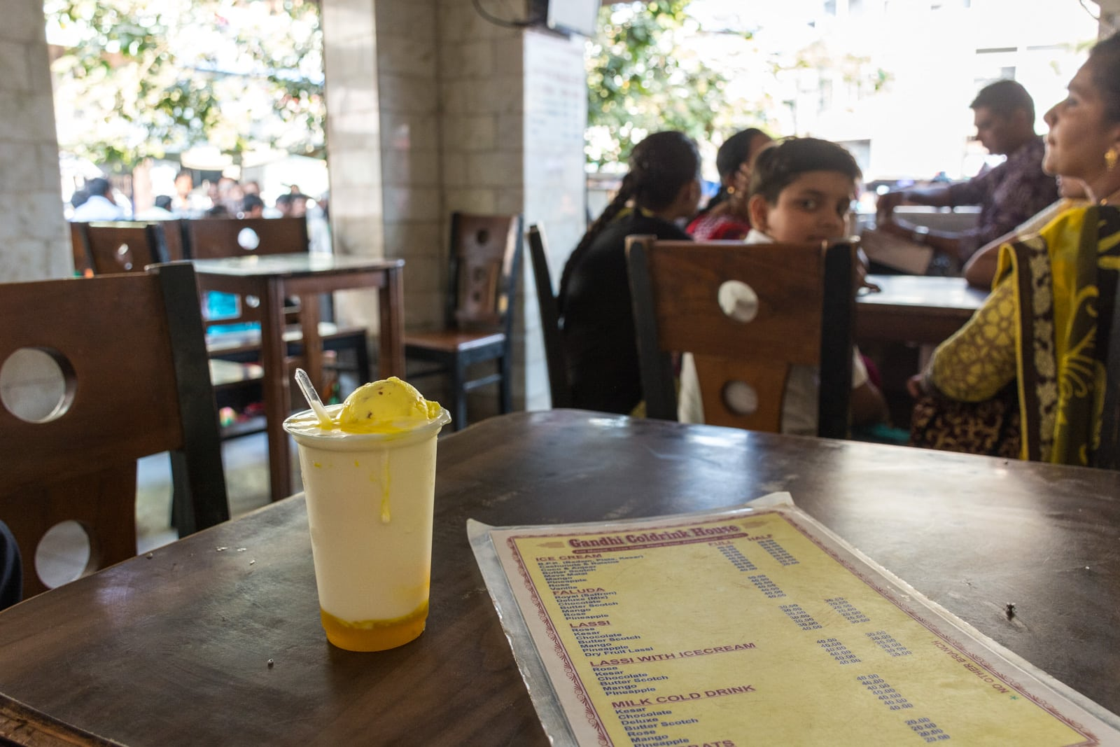 Weekend guide to Ahmedabad, Gujarat, India - Kesar ice cream lassi at Gandhi Cold Drink house - Lost With Purpose travel blog