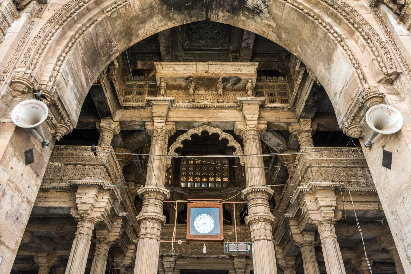 Interior of the Jama Masjid of Ahmedabad