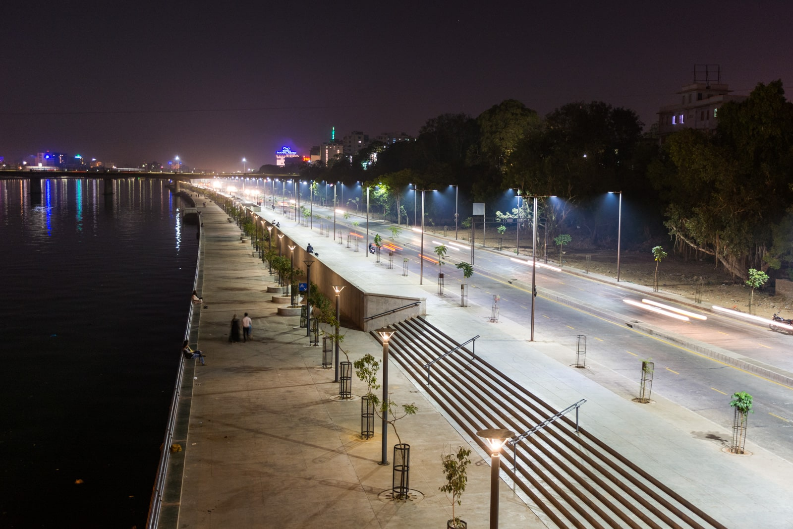 Riverside walkway in the Ahmedabad city center