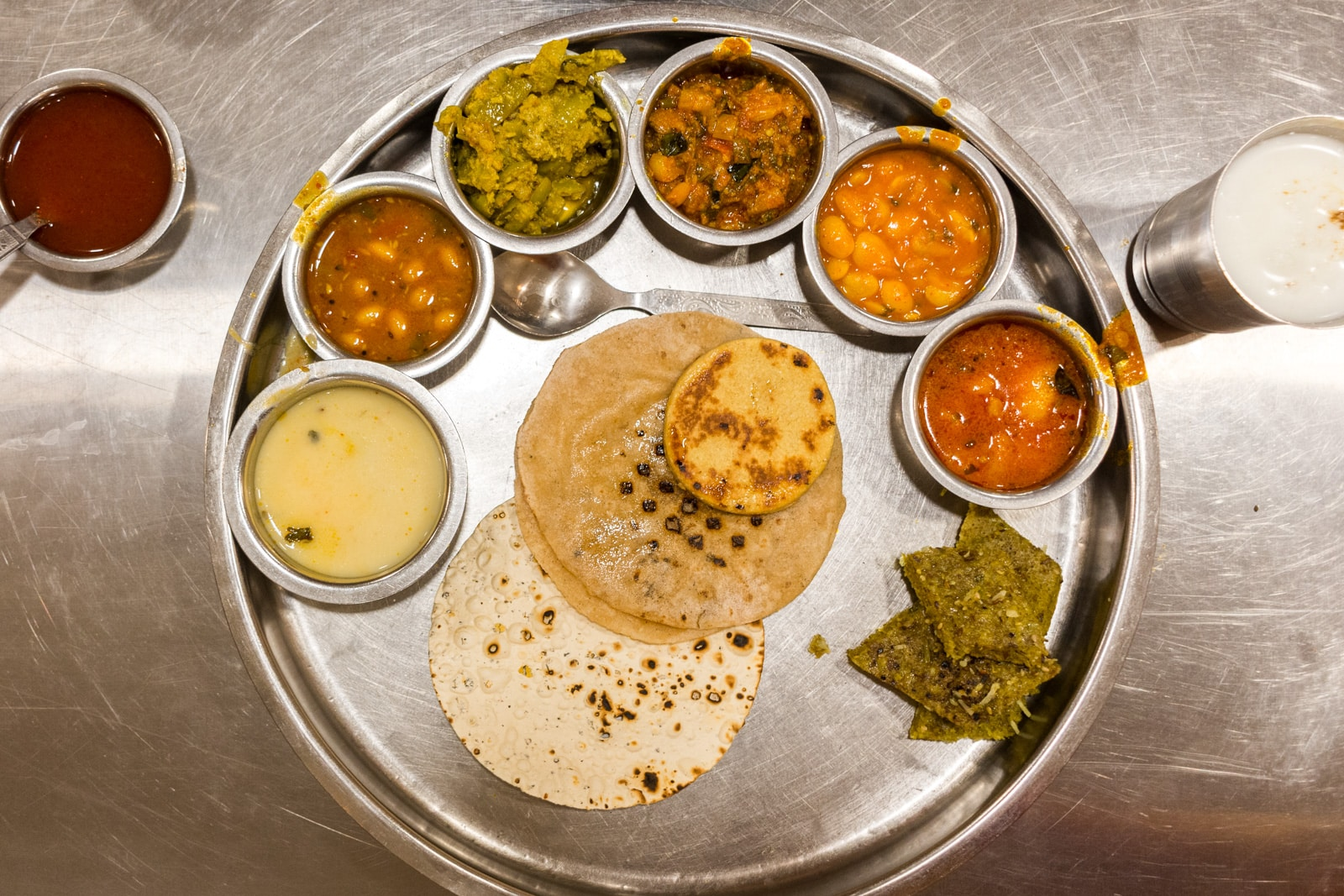 Weekend guide to Ahmedabad, Gujarat, India - Gujarati thali from Gopi Dining Hall - Lost With Purpose travel blog