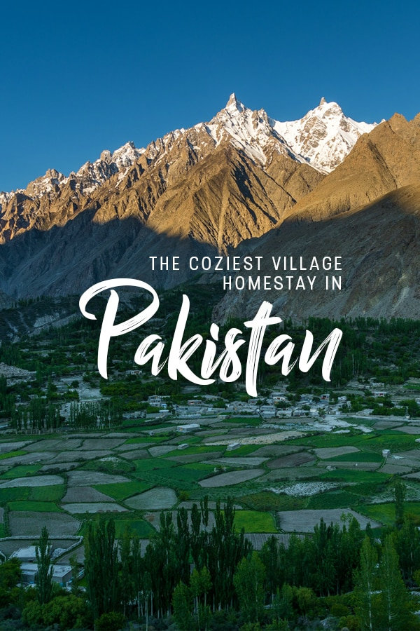 Looking for a homestay in Pakistan? Here's my story at the homestay of a friend in a small village in Gilgit Baltistan, Pakistan. Mountains, glaciers, and delicious homemade local food. What more could you need? Read on for more about how to book a room at the homestay, how to get there, and other important information.