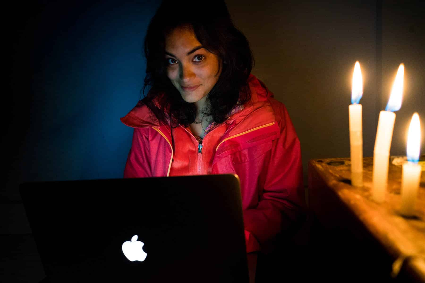 How I afford full-time travel - Blogging by candlelight in Tawang, Arunachal Pradesh, India - Lost With Purpose travel blog