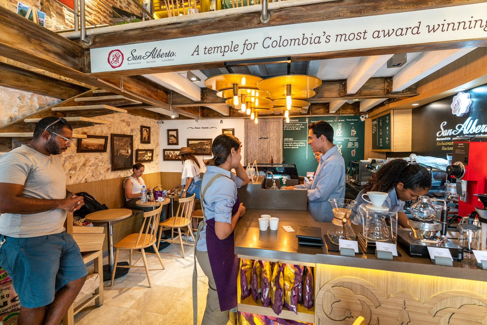Cafes with wifi for digital nomads in Cartagena, Colombia - Cafe San Alberto - Lost With Purpose travel blog