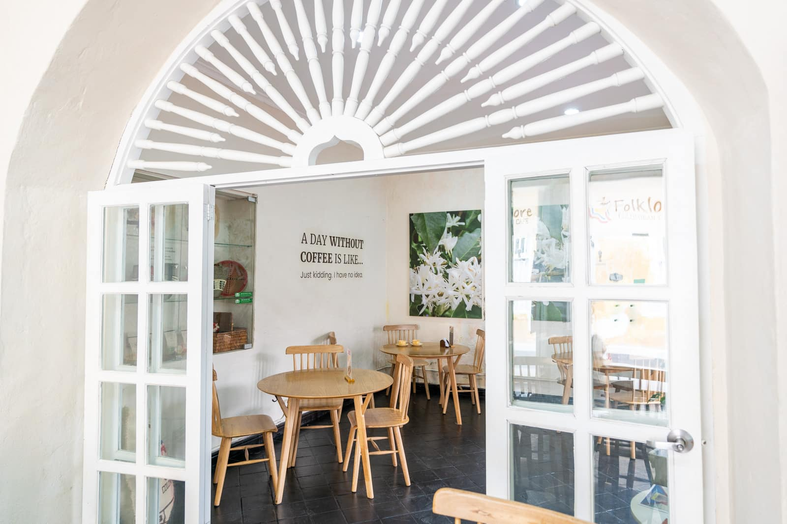 Cafes with wifi for digital nomads in Cartagena, Colombia - Interior of Folklore Colombian Cafe - Lost With Purpose travel blog