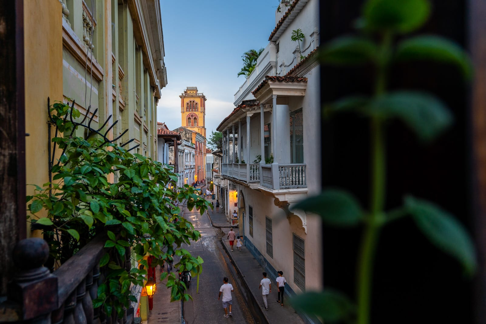 Cafes with wifi for digital nomads in Cartagena, Colombia - Cartagena at sunset - Lost With Purpose travel blog