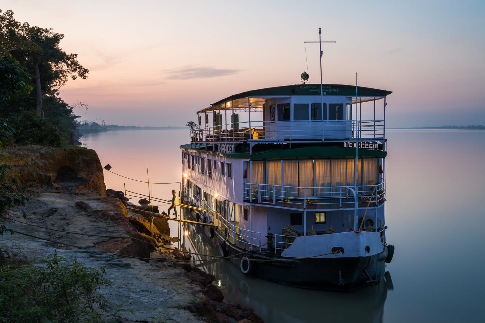 How I afford full-time travel - Brahmaputra river cruise in Assam - Lost With Purpose travel blog