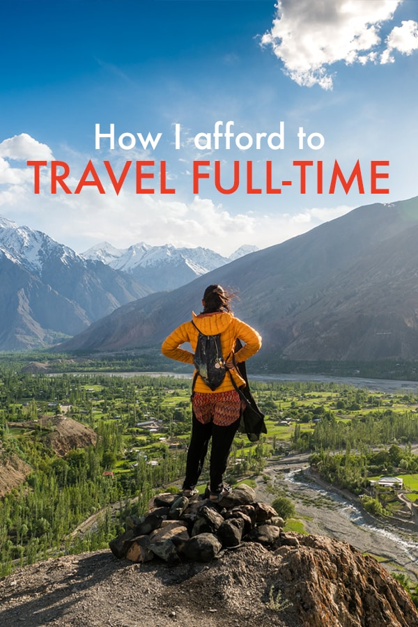 Traveling full-time is a dream for many... but how to pay for all that travel? In the name of transparency, I explain exactly how I pay for all of my travels (and no, I don't have a trust fund). Click through to find out how!