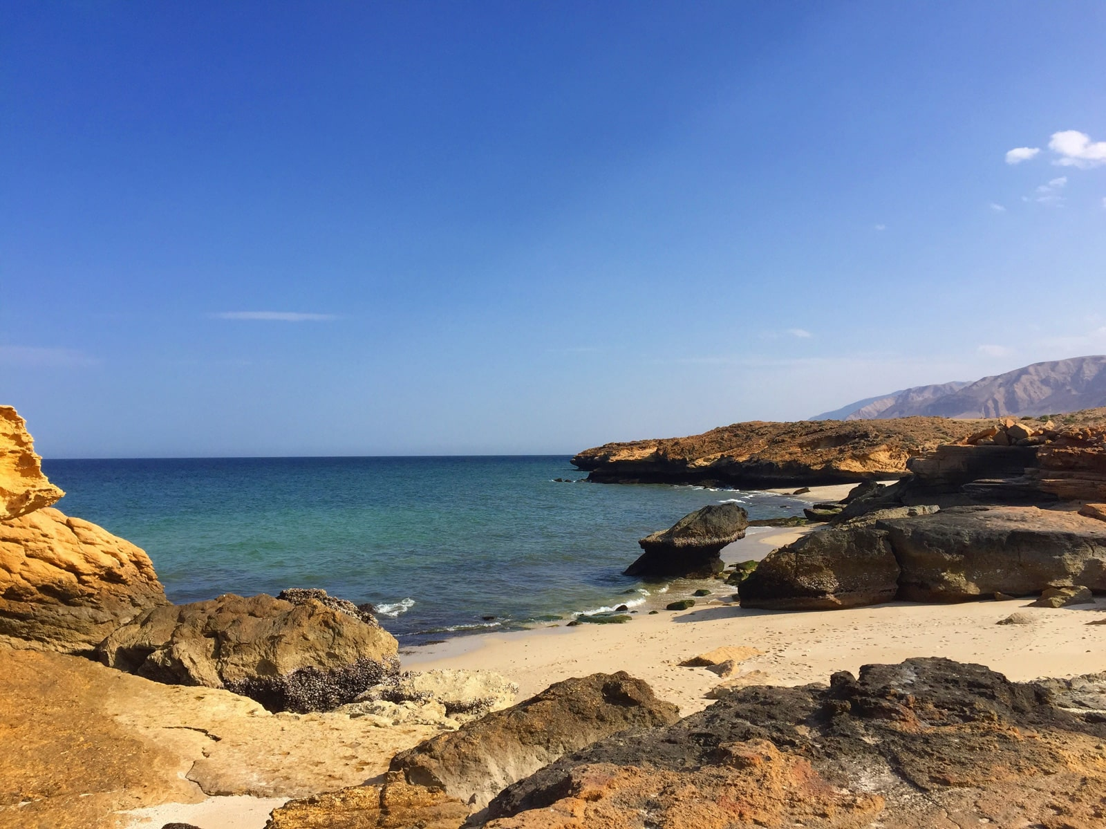 Solo female traveler from Kuwait and Oman - Beaches at Finns, Oman