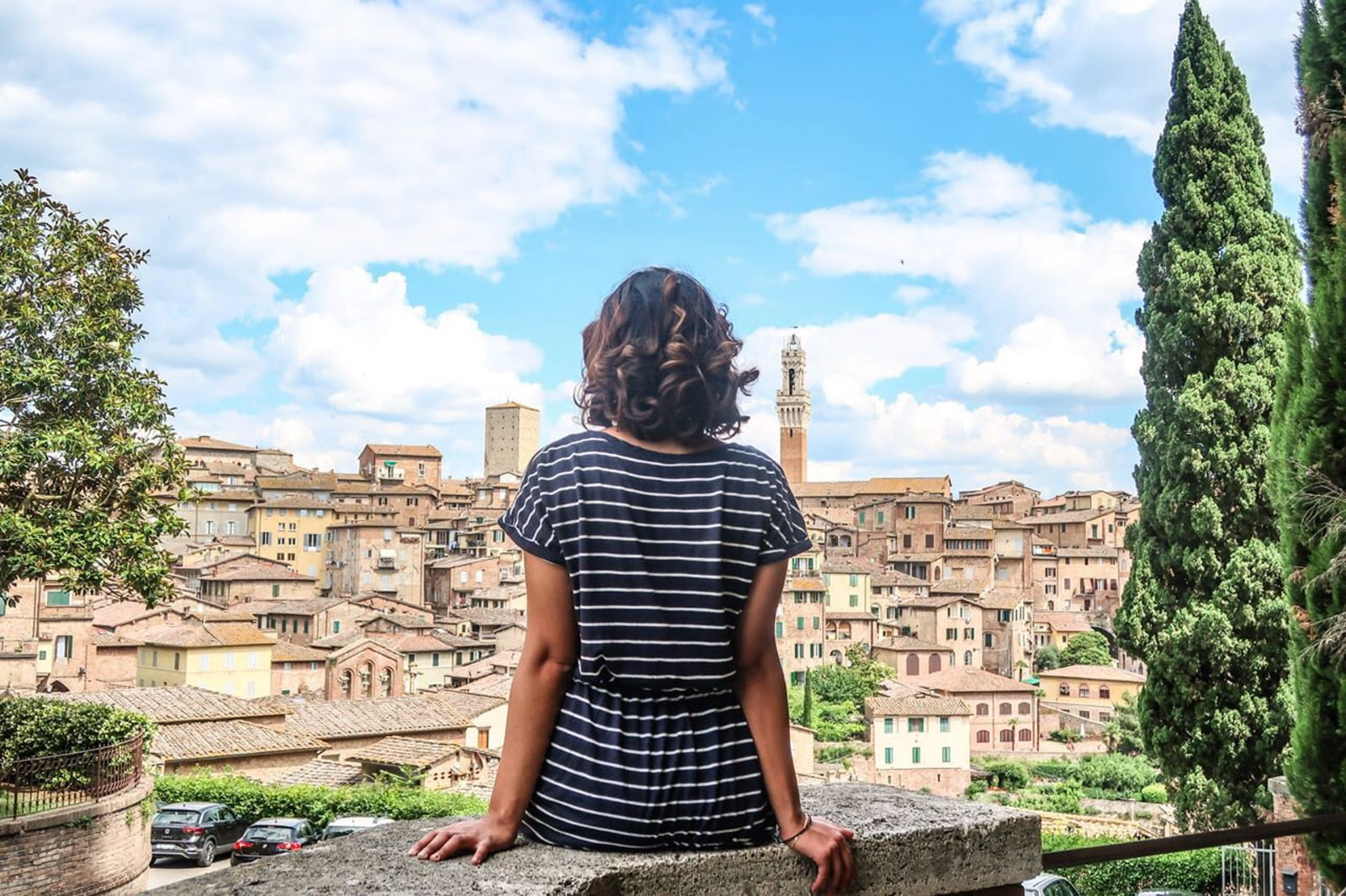 Solo female traveler from Kuwait - Sundes in Siena, Italy