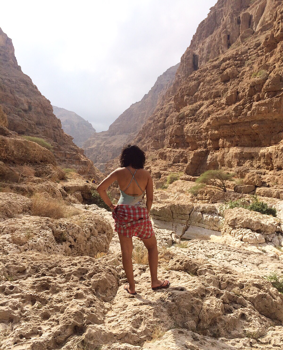 Solo female traveler from Kuwait and Oman - Sundes in Wadi Shaab, Oman