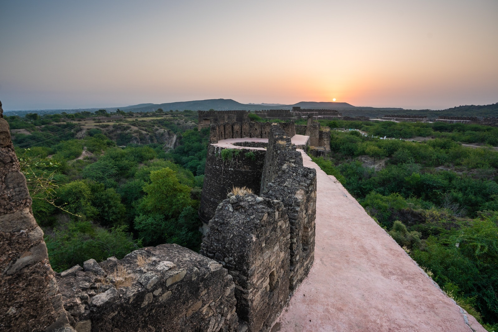 Learning to bike as a woman in Pakistan - Sunrise at Rohtas Fort - Lost With Purpose travel blog
