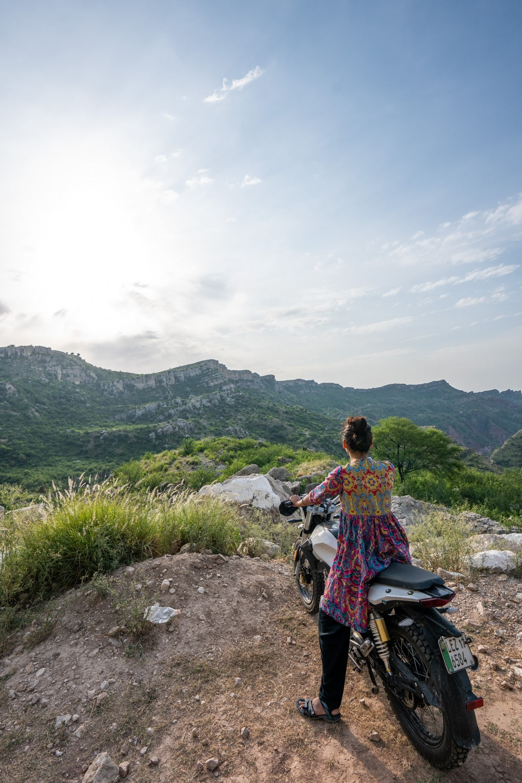 Learning to bike as a woman in Pakistan - On a bike near Neela Wahn - Lost With Purpose travel blog