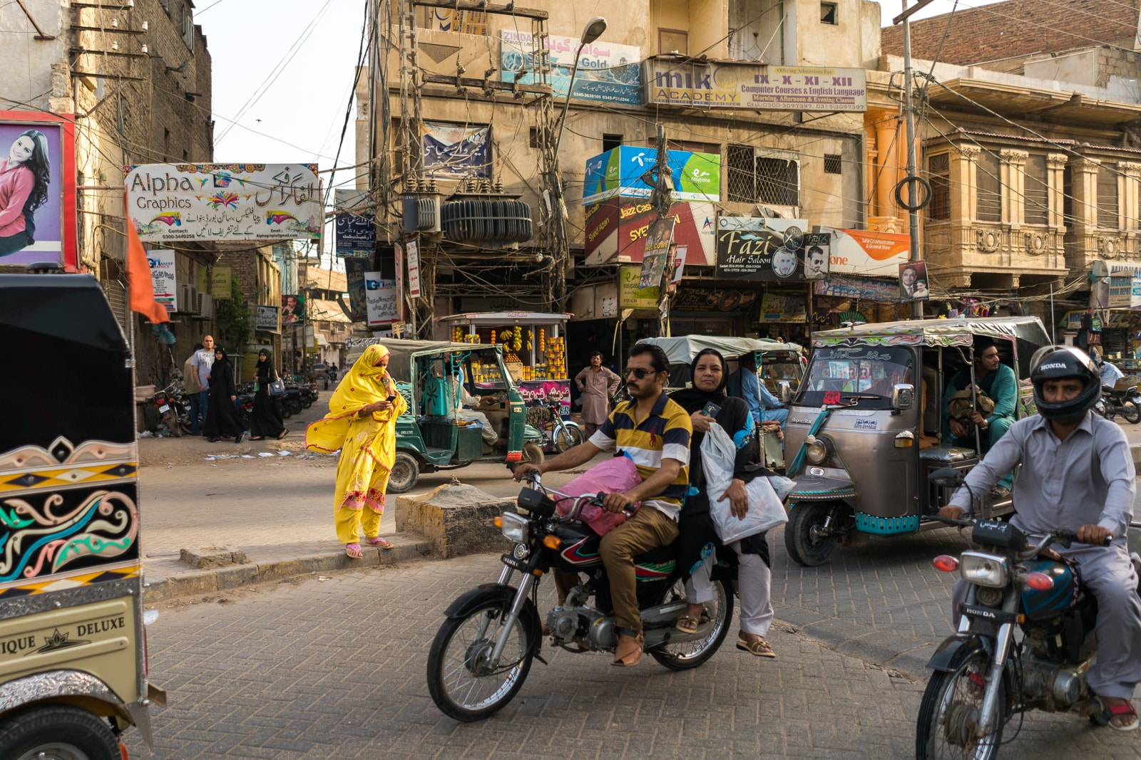 Biking as a woman in Pakistan - Streets of Hyderabad - Lost With Purpose travel blog