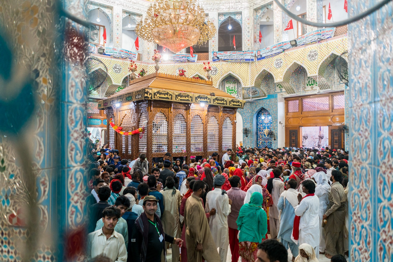 Sindh travel guide - Interior of the shrine of Lal Shahbaz Qalandar in Sehwan Sharif, Pakistan - Lost With Purpose travel blog