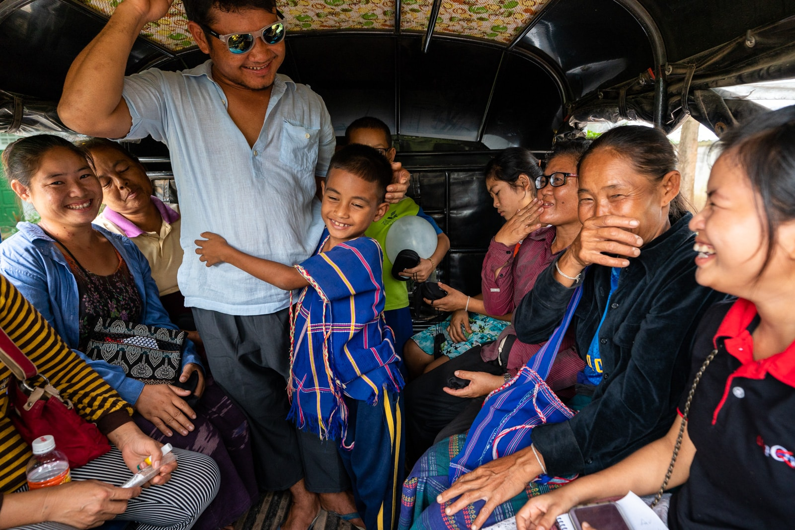 OneSight eye clinic on the Thailand-Myanmar border - Truck driving home patients from Mae Tao Clinic - Lost With Purpose travel blog