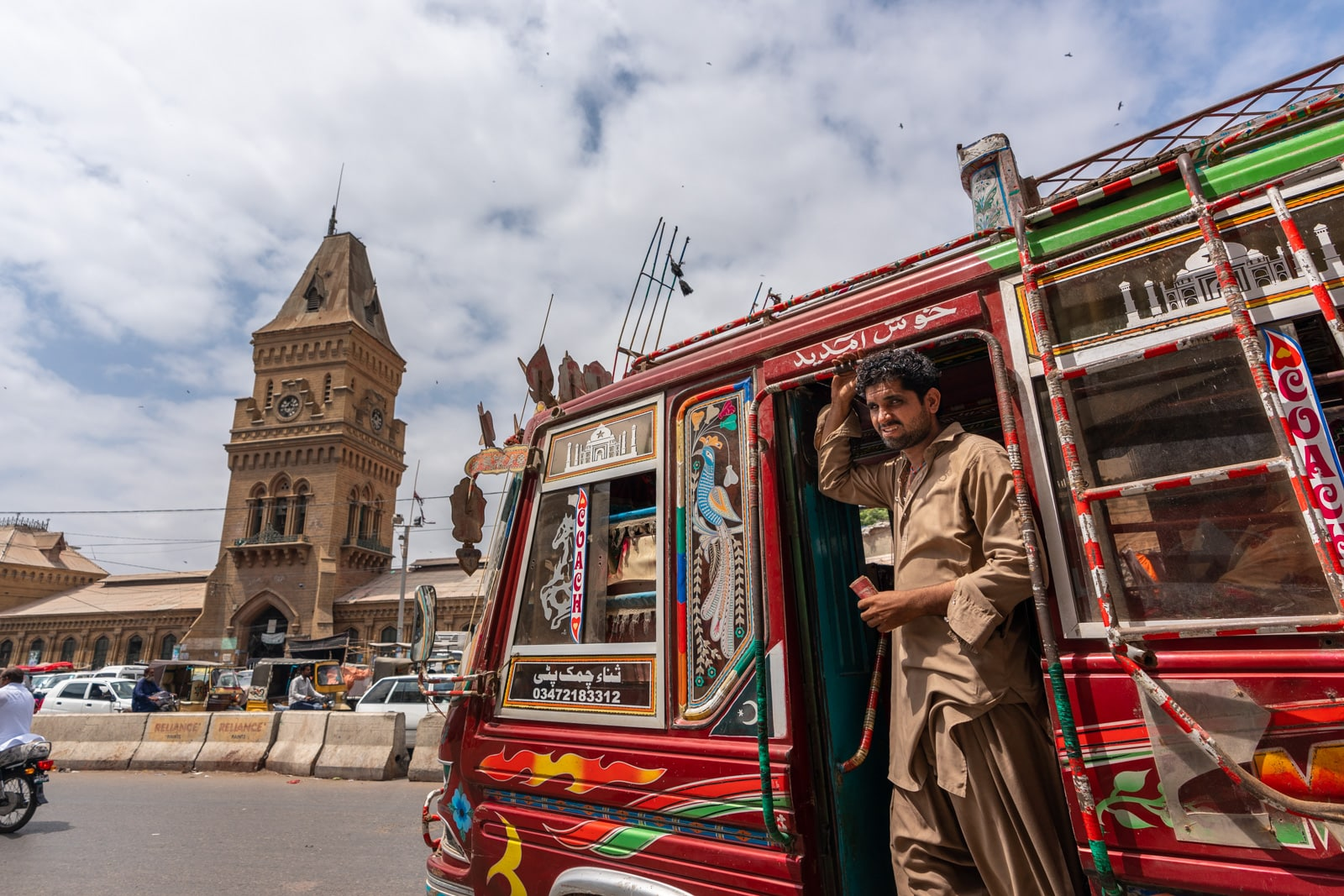 Sinidh travel guide - Trippy rainbow buses in Karachi, Pakistan - Lost With Purpose travel blog
