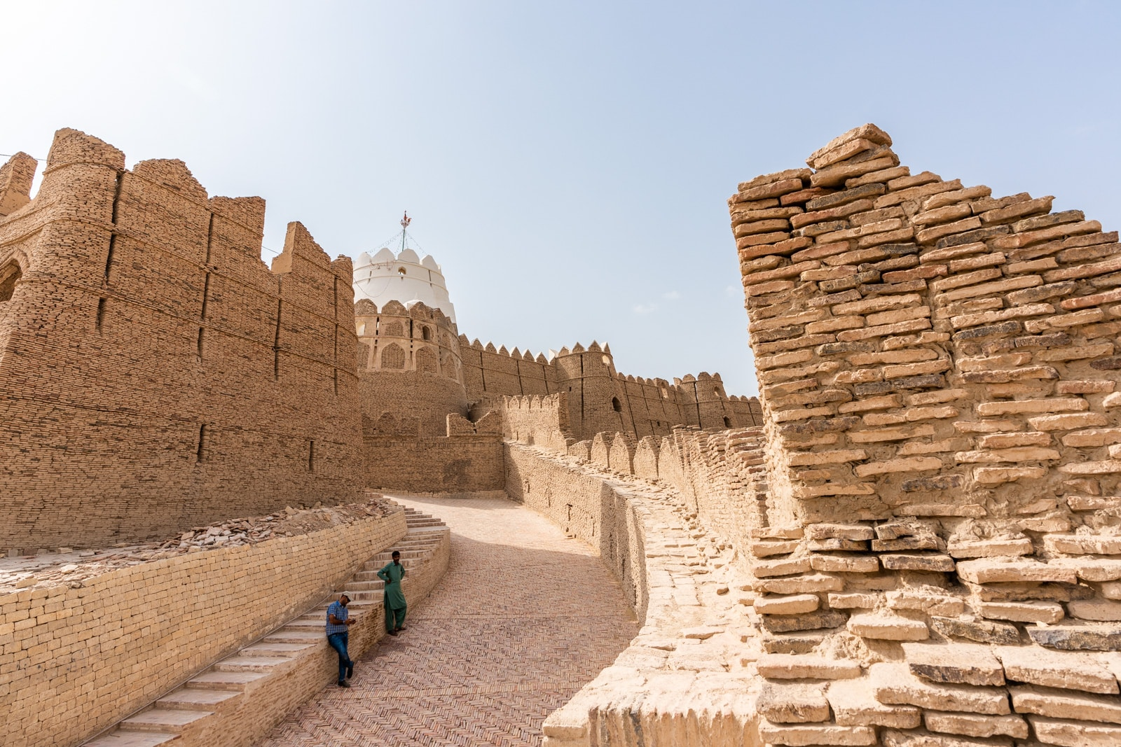 Sindh travel guide - Entry walkway to Kot Diji Fort - Lost With Purpose travel blog?