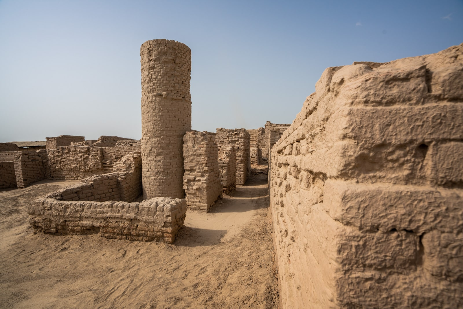 Sindh travel guide - Brick ruins at Moenjo-daro - Lost With Purpose travel blog